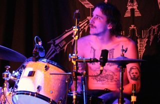 Drummer Ben Brennan of Geil takes the stage at the Marquee Ballroom. (Photo: John Sandham)