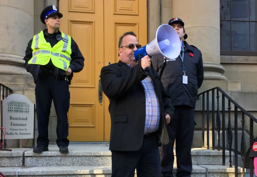 Danny Cavanagh, president of the Nova Scotia Federation of Labour. (Photo: Ross Andersen)