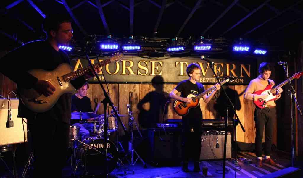 Kurt Inder (left) and his band. (Photo: John Sandham)