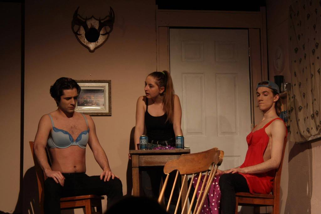From left: Thomas Jestin (Kevin), Melina Zaccaria (Krista), and Jonah Mullen (Jamie). (Photo: Erica Guy)
