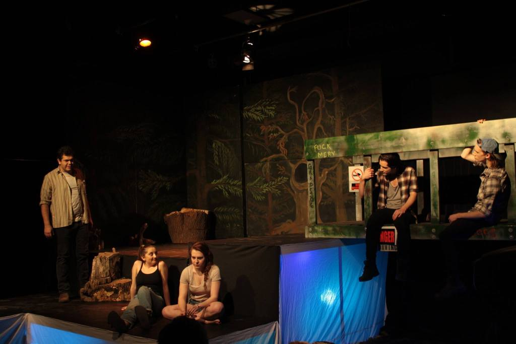 From left: Robert Dryer (Robbie), Melina Zaccaria (Krista), Keely Olstad (Chicky), Thomas Jestin (Kevin), and Jonah Mullen (Jamie). (Photo: Erica Guy)