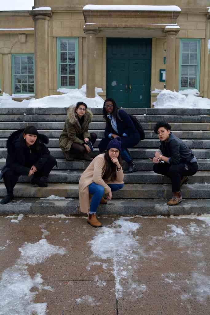 From left: Lianne Xiao, Dorsa Eslami, Itai Kuwodza, Julia-Simone Rutgers. Front: Fadila Chater. (Photo: Kristen Thompson)